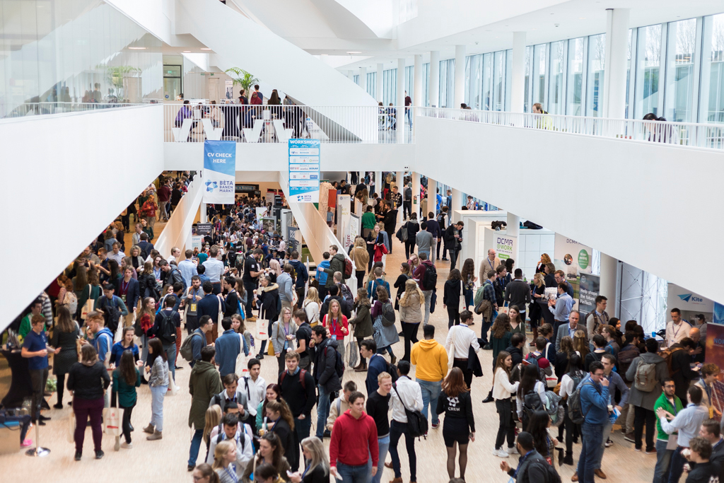 The Company fair of the Leiden Science Career Event.